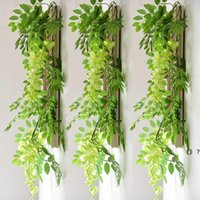 7ft 2m Flower String Artificial Wisteria Vine Garland Plants Foliage Outdoor Home Trailing Flower Fake Hanging Wall Decor HHD7005