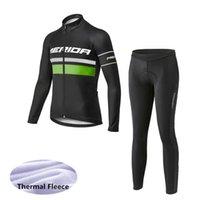 Jersey thermique thermique thermique d'hiver de Merida Team Vélo (BiB) Pantalons Ensembles Vêtements Soux Respirant Cycle Cycle Cycle peut être Mix Z40790