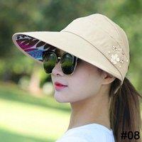 قبعة الشمس الصيف مع اللؤلؤة قابلة للتعديل رؤساء كبيرة عريض القيم الشاطئ حماية الأشعة فوق البنفسجية قابلة للحماية قناع 1PCS Ltnshry واسعة الحافة القبعات
