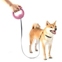 One Handed With LED Light 360 Degree Rotation Portable Outdoor Walking Pet Running Ring Style Rechargeable Retractable Dog Leash Collars & L
