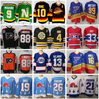Vintage CCM Hockey Jersey Pavel Bure Mike Modano Eric Lindros Bobby Orr Patrick Roy Joe Sakic Peter Forsberg Stastny