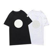 2021 Luxur T Shirt Embroidery Moda Personalizzata Uomini e Donne S Abbigliamento Design Design T-shirt femminili Magliette Nero di alta qualità Black White100% Ct