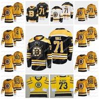 71 Taylor Hall Boston Bruins 2021 عكس الرجعية جيرسي باتريس بيرجيرون C Patch David Pastrnak Ray Bourque Charlie Mcavoy Tuukka Rask Bobby Orr