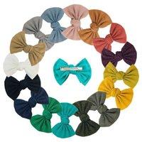 4inch Baby Bow Pince à cheveux Tendance à la main Fille Soft Girl Clips Mode Accessoires de mode Multicolour Coupes à cheveux