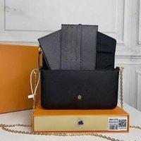 Clássico Designer de luxo Bolsa Pochette Felicie Bag Bolsas de couro genuíno bolsa de ombro bolsa de embreagem bolsa de compras bolsa com caixa