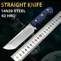 Straight knife high hardness outdoor special forces rescue hunting tactics camping practical tools self-defense survival EDC.