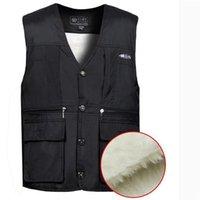 Men's Vests Man Winter Plus Size Velvet Thick Male Oversized Warm Down Jackets Men Coats Escudo