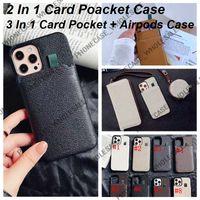Designer excelente carteira de bolso carteira de couro casos de telefone para iPhone 12 11 Pro máx 11 pm xr xsmax 7p 8p 7 8 com autopods case set 08172220