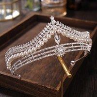 Hair Clips & Barrettes Wedding Birthday Accessories Bridal Crown Headwear Rhinestones Inlaid Retro Headdress Luxury Alloy For Female Tiaras