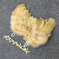 Angel Wings Sefer Wings Baby Girl Цветок Оливковые Оголовья Фотосъемки Принадлежности для волос Для Новорожденных Фотографии Рекс 0-6 месяцев 1329 y2