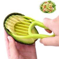 3 in 1 Avocado Slicer Shea Corer Butter Obst Peeler Cutter Pulp Separator Kunststoffmesser Küche Gemüse Werkzeuge Küchengeräte