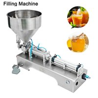 220V Foot-Operated Liquid Paste Dual Purpose Filling Machine Multifunctional Single Head Stainless Steel Filler