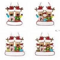 NewChristmas Ornament Opknoping Rendier Familie Decor voor Kerstmis Thuis Kantoor Kamer Decoratie Ambachten met String Geassorteerde Hangers RRF11357