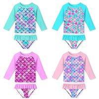 ملابس الأطفال ملابس أطفال بيكيني طفل الفتيات قطعتين الطفل الاستحمام البدلة تنورة تنورة الرشيجارد المكسور مصممي القيم