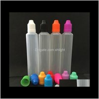 Event Festive Party Supplies Home & Garden Drop Delivery 2021 Gift Wrap 60Ml Childproof Empty Bottle Vape E-Liquid Refill Bottles Pe Pen Shap