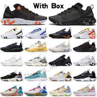 Nike React Element 87 Reagir Visão Elemento 87 Sapatos Esportivos Moda Moda Zapatillas Deportes Mujer Femme Respirável Homens Mulheres Treinadores