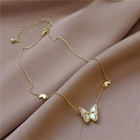 Pendant Necklaces Arrival Sweet Rhinestone Butterfly Necklace For Women Chain Choker Fashion Jewelry Gift