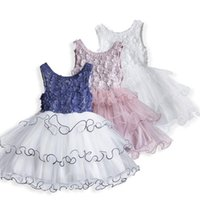 Girl's Dresses Summer Vest Dress For Little Girls Flowers Appliques Vestidos Birthday Wedding Clothes Causal Ball Gown 3-8 Years