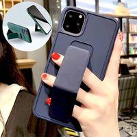 Téléphone Coques Support magnétique Stand Kickstand Cellule de bande à main pour iPhone 11 12 PRO X XS MAX XR 7 8 Plus Huawei P30 P40 P40 P40 P40 40 Samsung S10 S20 S21 Couvercle du bracelet
