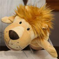 Linda mano títere juguete 27cm ventriloquist animal padre-niño juego historieta de historieta guante peluche muñeca de peluche puede abrir la boca