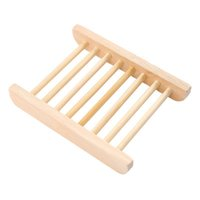 Natürliche hölzerne Seifenschale Holzablage Halter Lager Rack Kasten Behälter für Badewanne Duschplatte Badezimmer 2089 V2
