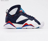 Jumpman 7s Sneaker Haut de l'interdiction Hommes Basketball Chaussures Chine Violet Blanc Black Sports Sneakers Chaussures CW2805-160