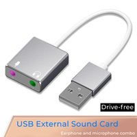 USB converter cable to Audio & Mic Interface no need driver Sound Card integrated Support voice listening Earphone universal Core durable Aluminum shell plug and play