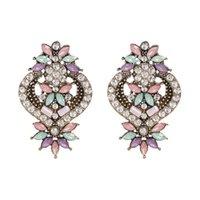 Dangle & Chandelier JUJIA 2 Colors Women's Luxury Oorbellen Full Crystal Drop Earrings For Women Trendy Accessories Wedding Party Jewlery Wh