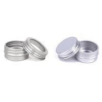 5ml 0.17oz Small Empty Silver Aluminum Tins Metal Jar Cans Sample Cosmetic Containers Bottle Box with Window Cover for Make Up Eye Shadow Powder Lip Balm