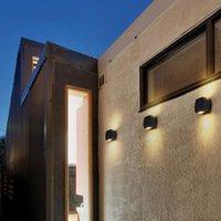 Wall Lamp 10PCS 6W Simple Modern LED Aluminum AC85-265V Semi Circular Garden Up And Down Waterproof Outdoor Porch Light
