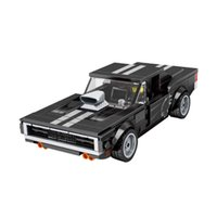 Creative Dodge Charger MOC Toys Speed Champions Super Racing Car Racer Building Blocks Kit Bricks Classic Model Kids Xmas Gift H0917