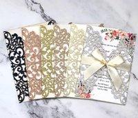 Diğer Etkinlik Malzemeleri Lüks Altın Lazer Kesim Davetiyeleri Kart Kağıdı Şerel Zarflar Ile Cadılar Bayramı Partisi Düğün Dekorasyon Özelleştirmek X XJZQ9