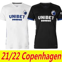 21/22 Copenhagen Futebol Jerseys Home Away Wind Singh Stage Lerager 2021 2022 Camisa de Futebol Khocholava Wilczek Zeca Maillots de pé uniformes