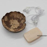 크리 에이 티브 비누 요리 복고풍 나무 욕실 비누 코코넛 모양 홀더 DIY 공예 EWE5879
