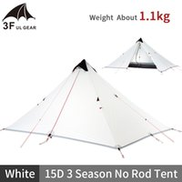 3F UL GEAR Tower Pisa 1 Person Tent Ultralight Outdoor 15D 3 Season Professional Tent Camping Waterproof No Rod