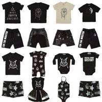 Mini-crianças de verão camisetas Roupas de meninas de bebê desenhos animados de manga curta criança camisa de natal listrado meninos tops tees