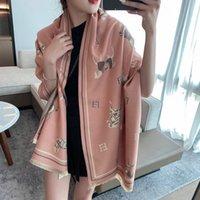 Bufanda de cachemira de invierno para mujeres Pashmina cálida Manta Caballo Bufandas Luxury H Letra Lady Shawl Wraps Thick Foulard Bufanda Tamaño 180 * 65cm