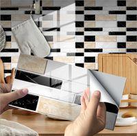 24 Sheet Premium Self-Adhesive Kitchen Backsplash Tiles in Marble Peel and Stick Tile Backsplash for Kitchen 3D Tile Stickers for Kitchen Bathroom