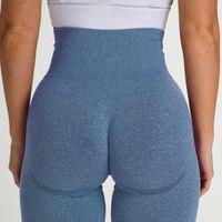 Femmes Gym Yoga Outfits De Jeunes Pantalons sans soudure Hanches Push Up Sports Sports Taille Étendue Taille Haute Taille Athlétique Leggings Lifting Vêtements de sport Jersey PantsSocteur Jersey