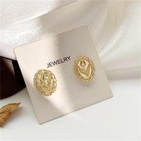 Stud Han Edition Earring Ruanme Contracted Flower Earrings Retro Gentle Women Jewelry Accessories