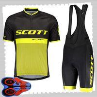 Scott 팀 사이클링 짧은 소매 유니폼 (BIB) 반바지 세트 망 SUNG STOMENT BUTHOR BUTICE BICYCLETE MTB 자전거 복장 스포츠 유니폼 Y21041489