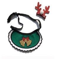 Bandes de chiens Bands Chiens de Noël Bandana Fournitures pour animaux de compagnie Accessoires pour Chiens Foulard Animaux Animaux Chiot Appresorios Elk Ornements OD6352