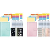 Gift Wrap A6 PVC Notebook Binder, Budget Planner Organizer Suitable For Use As A Cash Envelope Wallet In School And Family