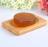 Natural Bamboo Wooden Soap Dish Soap Tray Holder Storage Soap Rack Plate Container For Bath Shower Bathroom Accessory