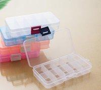 10 Izgaralar Takı Saklama Kutusu Plastik Temizle Ekran Durumda Organizatör Tutucu Boncuk Yüzük Küpe Jewelrys SN5362