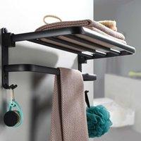 Полотенце стойки xueqin складной 2 уровня нержавеющая сталь из нержавеющей стали стеллаж для ванной комнаты для хранения настенные вешалки полированные туалетную одежду