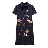 Kadın Giydirme Balo Nedime Rahat Elbise Bayan Maxi Ceket Siyah Işlemeli Vinç Kuş Desen Boyutu M-4XL