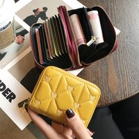 France Luxurys Designers Coin Pouch Card bag female 2021 exquisite high-grade leather small multi card slot large capacity change one network red anti degaussing