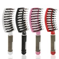 Hair Brushes Comb Brush Scalp Massage Curved Vented Styling Hairbrush Detangling Thick Drying Hairbush For Salon
