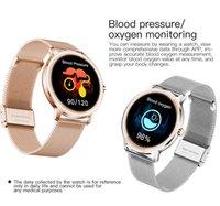 R18 الذكية ووتش سيدة الوردي روز الذهب حزام اللياقة البدنية المقتفي ips الملونة شاشة اليد 24H معدل ضربات القلب رصد الرياضة smartwatch الرجال ضغط الدم الأكسجين